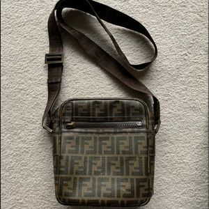 Authentic Fendi Crossbody Bag Zucca Monogram